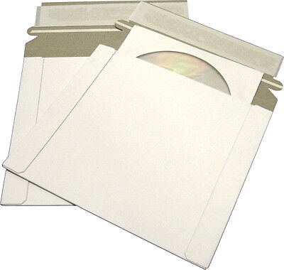(25) CDBC06PB-ALT Paperboard CD Mailer Self Sealing with Flap DVD Media Shipping