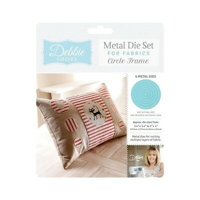 Crafters Companion Circle Frame Debbie Shore Metal Nesting Die Set for Fabrics D