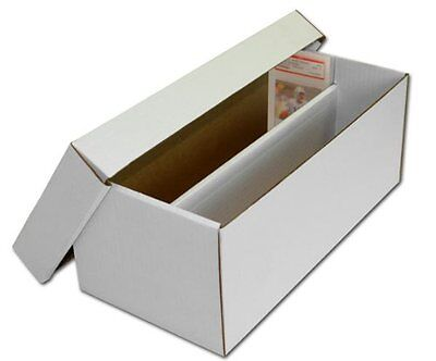 (1) BCW GSB Graded Shoe Box Cardboard Trading Card Boxes Cases Holds 100 Sports