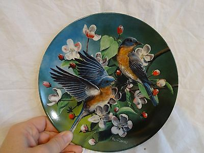 Vintage 80s KNOWLES Collector PLATE The BLUEBIRD Kevin Daniel .