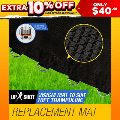 NEW Up-Shot 10ft Replacement Trampoline Mat - 64 Spring Round Spare Foot Parts