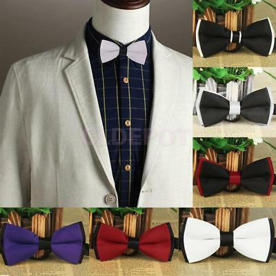 Polyester Silk Adjustable Bow Tie Tuxedo Party Self Tie Shiny Satin Neckties