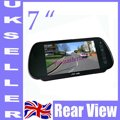 "7"" TFT LCD Screen Car Rearview Mirror Monitor For Car Reversing Camera"