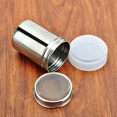 Stainless Steel Shaker Chocolate Dredge Icing Sugar Powder Coffee Flour Sifter