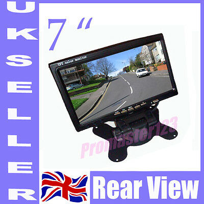 "New 7"" TFT LCD Color Screen Monitor for Car Rear View Reversing Backup Camera UK"