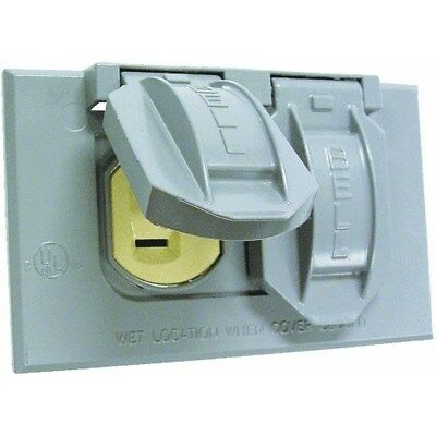Do it Weatherproof Electrical Cover and Receptacle Outdoor Outlet Kit,No 5940-1