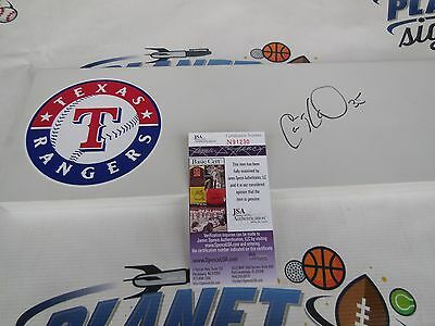 Cole Hamels signed Texas Rangers official authentic MLB pitching rubber JSA COA