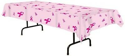 Pink Ribbon Plastic Tablecover Breast Cancer Awareness Event