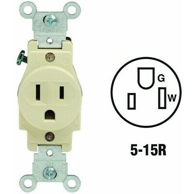 Ivory Single Outlet,No 5088I,  Leviton Mfg Co