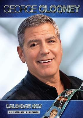 George Clooney 2017 Large Poster Wall Calendar New & Sealed Free Uk Postage !!