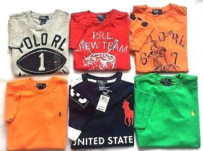 Boys Original Polo by Ralph Lauren Short Sleeve T-Shirts Age 5 & 6 Green