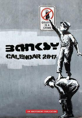 Banksy 2017 Large Poster Wall Calendar New & Sealed Free Uk Postage !!