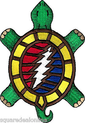 39178 Grateful Dead Terrapin Turtle With Lightning Bolt Music Band Iron On Patch