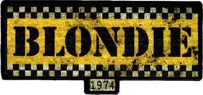 89070 Blondie Taxi Logo Debbie Harry Punk Rock Sew Iron On Patch 80s Classic NYC