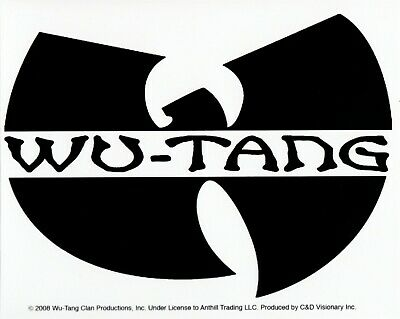 15672 Wu-Tang Clan W Logo Method Man Rza Sticker Decal Rap Wu-Bat Logo Hip Hop