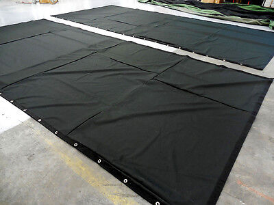 Black Stage Curtain/Backdrop 9 H x 15 W, 20% OFF (horizontal & vertical seams)