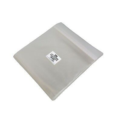 """(100) 12SB02SS 12"""" Vinyl Record LP Polyclear Sealable Outer Sleeves Bags Covers"""