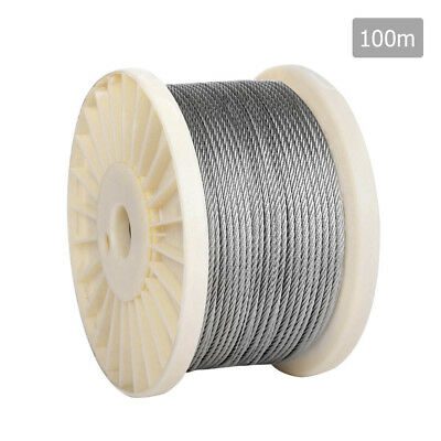NEW 7 x 7 Marine Stainless Steel Wire Rope 100M
