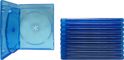(10) BR3R12BL Blue Blu-Ray DVD Boxes 3 Disc Capacity Cases 12mm Empty