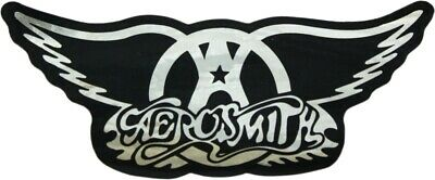 15334 Aerosmith Foil Chrome Shiny Silver Wings Steven Tyler Rock Sticker Decal
