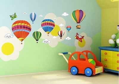 Planes baloons wall sticker child's room decoration, nursery wall art mural