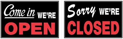 Sign,8x12 'Open/Closed' 2 Side by HILLMAN FASTENER