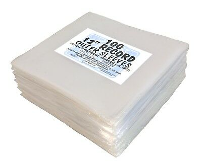 """(1000) 12"""" Record Sleeves - 2mil ARCHIVAL Vinyl LP Album Outer Bags Covers Eco"""
