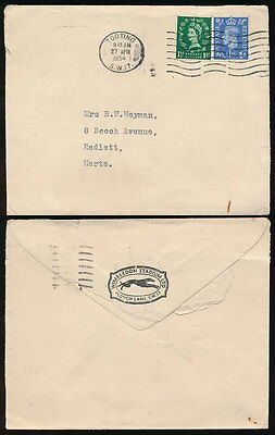 Dogs Gb 1954 Wimbledon Greyhound Stadium Envelope