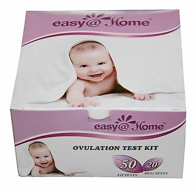 Easy@Home branded 50 Ovulation (LH) and 20 Pregnancy (HCG) Test Strips Kit - ...
