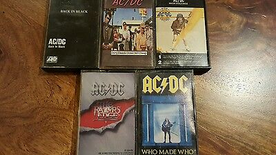 ACDC 5 cassettes collection