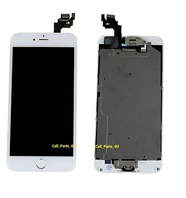 "White LCD Touch Screen Display Digitizer For iPhone 6 Plus 5.5"" 6+ Home Button"