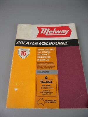 Melway Street Directory 16th Edition 1986 Map Melbourne