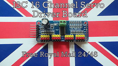 PCA9685 I2C 16 Channel Servo Driver Board with 12-Bit PWM for Arduino Raspberry
