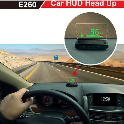 """4"""" Large Screen E260 Car HUD Head Up Display With OBD2 Interface Plug & Play"""