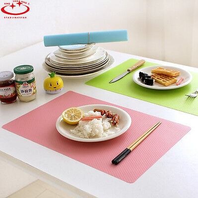 Non-slip Waterproof Insulation Bowl Silicone Mat Placemat Table Protector 4color