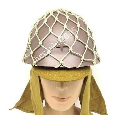 Set Wwii Japanese 90 Army Helmet With Helmet Cover Camouflage Net Cap Hat