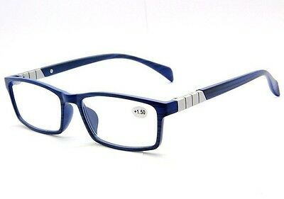 Unisex Professional Reading Glasses Readers Presbyopia +1.00 ~ +4.00 Blue Colors