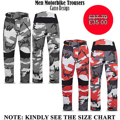 Mens Motorbike Trousers Cordura Waterproof Motorcycle Textile Fabric All Sizes