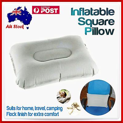 Inflatable Car Travel Camping Neck Square Blow Up Pillow Support Cushion Sleep