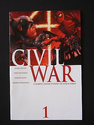 CIVIL WAR #1,#2,#3,#4,#5,#6,#7 2006 NM Lot of 7 High Grade Marvel Books Full Set
