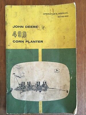 John Deere 490 Corn Planter Operators Manual Antique- and seed corn tags A B G 5