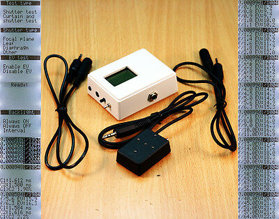 Camera shutter tester curtain tester and EV tester with light source