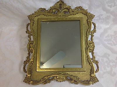 1891-1911 Beautiful Lg Cast Iron Victorian Framed Easel Mirror by NB & IW