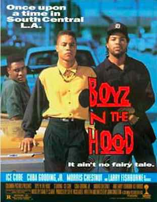 BOYZ IN THE HOOD 1991 ORIGINAL THEATRICAL MOVIE POSTER Cuba Gooding Jr, Ice Cube