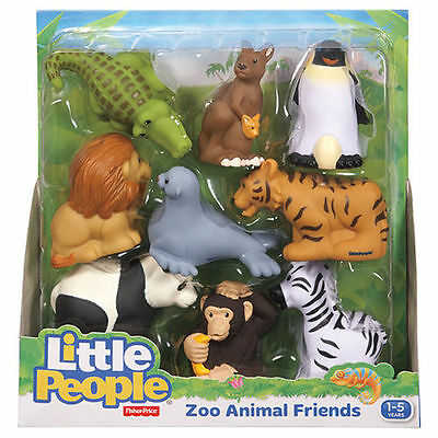 BRAND NEW Fisher Price Little People Zoo Animal Friends - 9 Pack  Ages 1-5 years