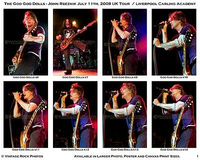 Goo Goo Dolls Photos 4x6 inch Set of 36 Prints 2008 Liverpool UK Live Concert s1
