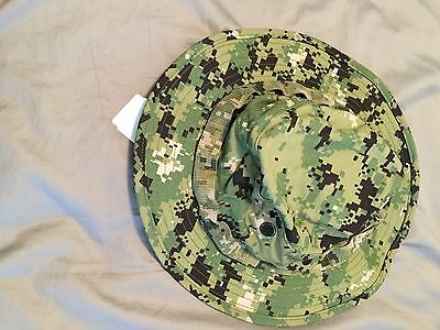 NWT NWU Type III Navy Seal AOR2 Digital Woodland Boonie Hat SUN COVER size M