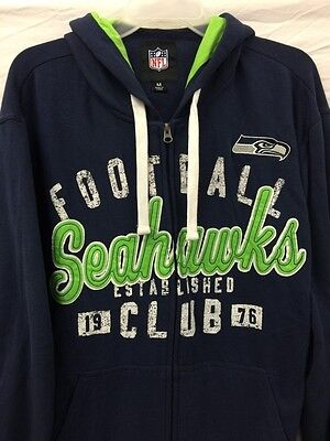 G-III Seattle Seahawks Mens zip Hoodie NFL jersey size Medium new with tags!