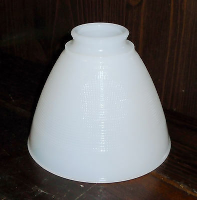 5x6 Torchiere Milk Glass Stiffel Rembrandt Lamp Diffuser Shade 2 1/4 fitter rim