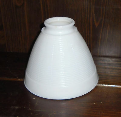 5x6 Torchiere Milk Glass Stiffel Rembrandt Lamp Lined Diffuser 2 1/4 fitter rim